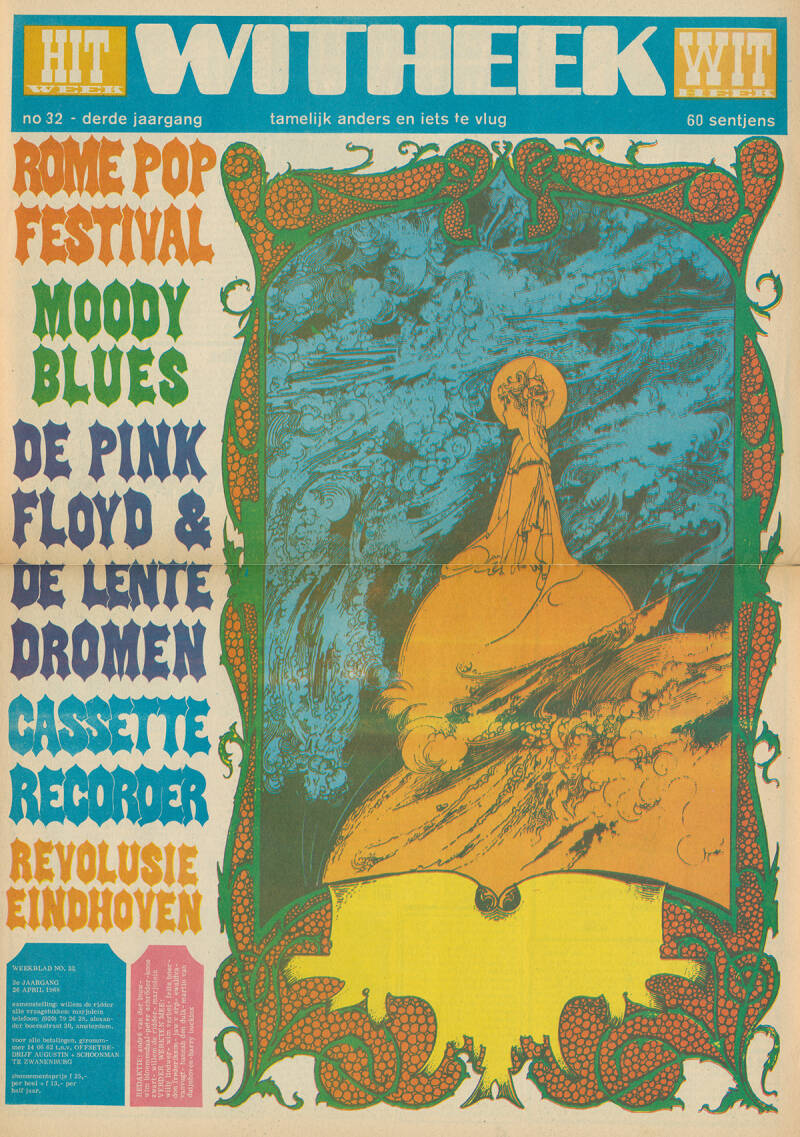 Pink Floyd - Hitweek, Volume 4, Issue 32 - April 26, 1968 [Holland] - Magazine