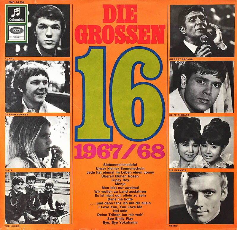 Pink Floyd (and others) - Die Grossen 16 [Germany] - LP