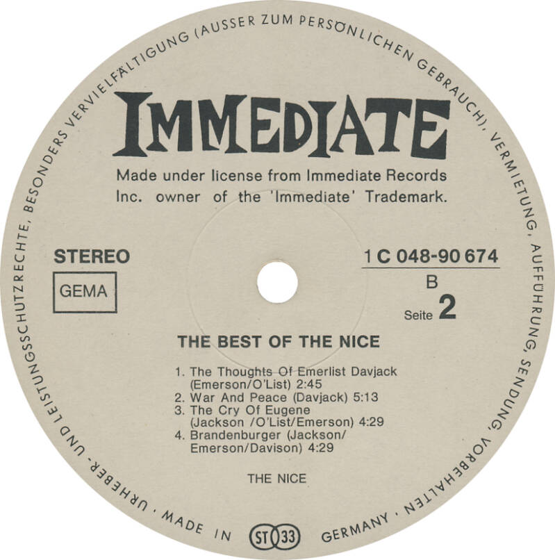 The Nice - The Best Of The Nice [Germany] - LP