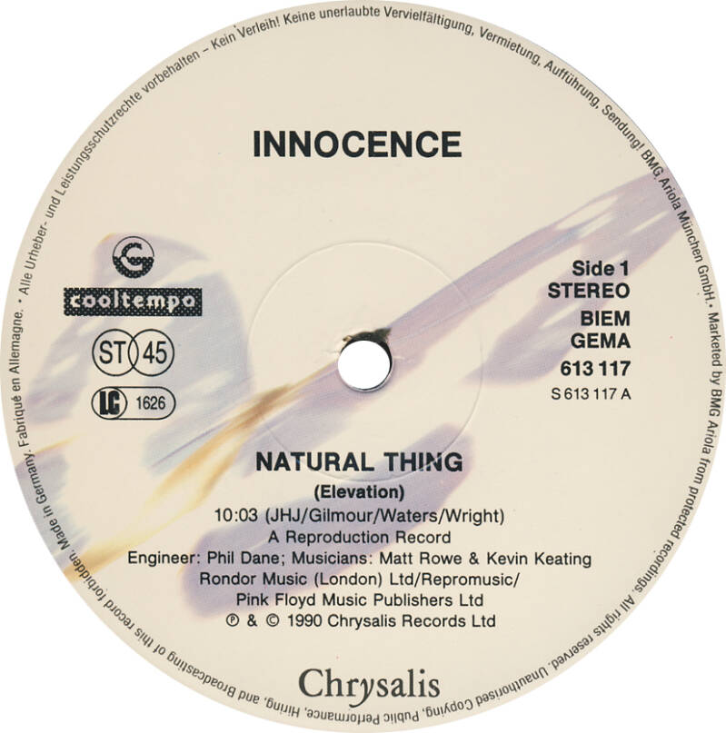 """Innocence - Natural Thing - Elevation Mix [Germany] - 12"""""""