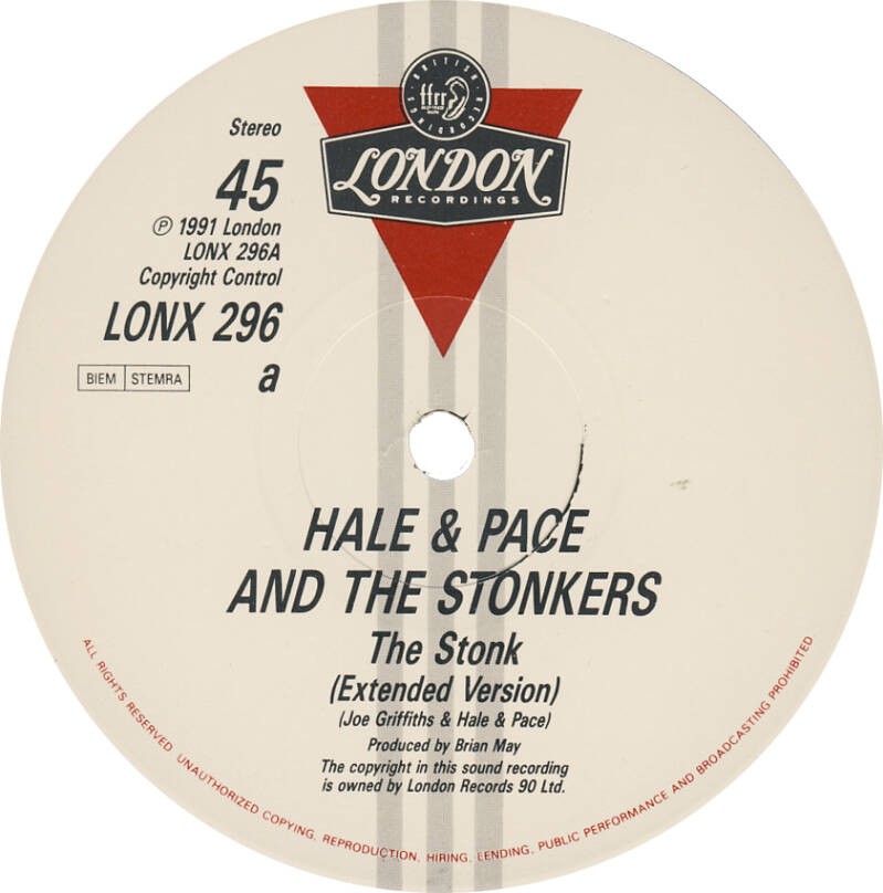 """David Gilmour et al. - Hale and Pace and the Stonkers - The Stonk [UK] - 12"""""""