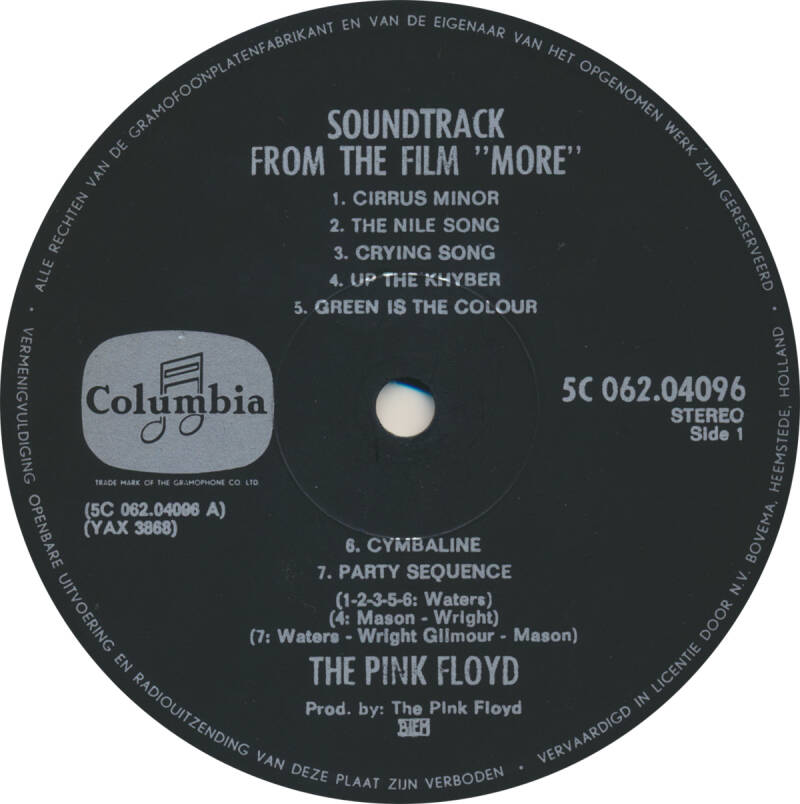 Pink Floyd - More [Holland] - LP