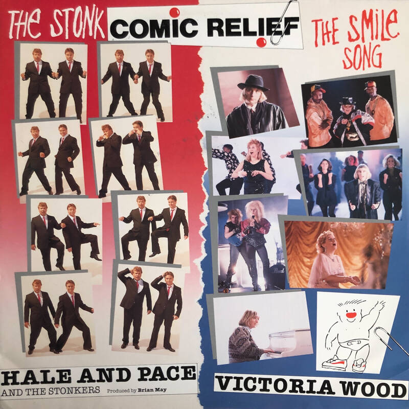 """Hale and Pace and the Stonkers ft David Gilmour - The Stonk [UK] - 12"""""""