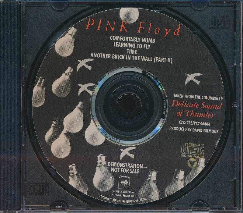 Pink Floyd - Taken From The Columbia LP Delicate Sound Of Thunder [USA, promo] - CD Single