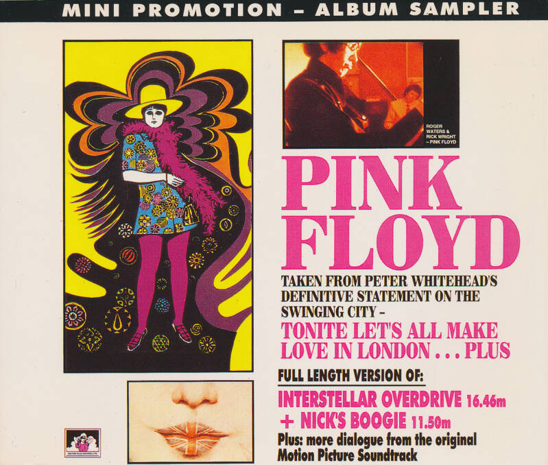 Pink Floyd - Tonite Let's All Make Love In London … Plus - Mini Promotion Album Sampler [France] - CD