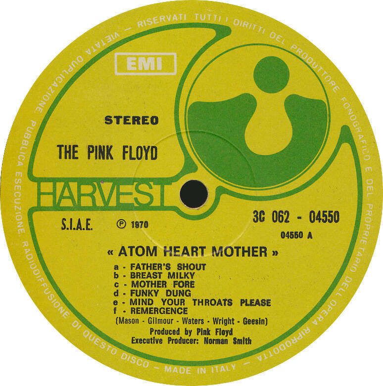 Pink Floyd - Atom Heart Mother [Italy, stereo] - LP