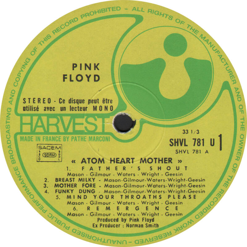 Pink Floyd - Atom Heart Mother [France] - LP