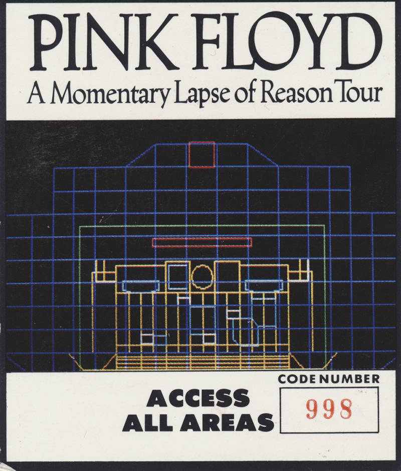 Pink Floyd - A Momentary Lapse Of Reason Tour - Backstage Pass