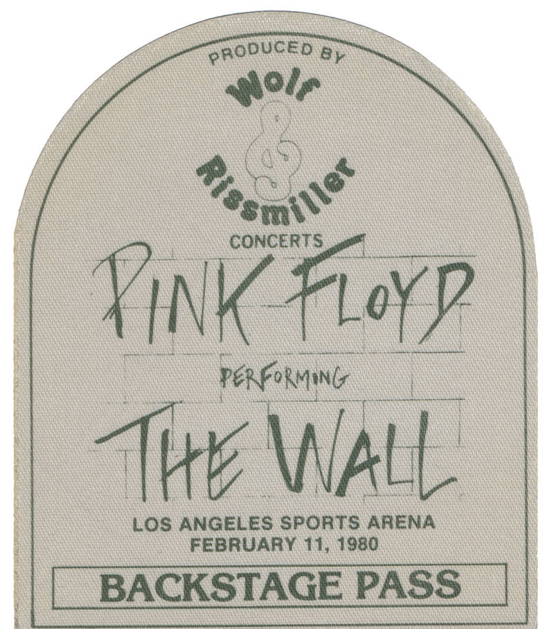 Pink Floyd -  Pink Floyd performing The Wall Los Angeles Sports Arena February 11, 1980 - Backstage Pass