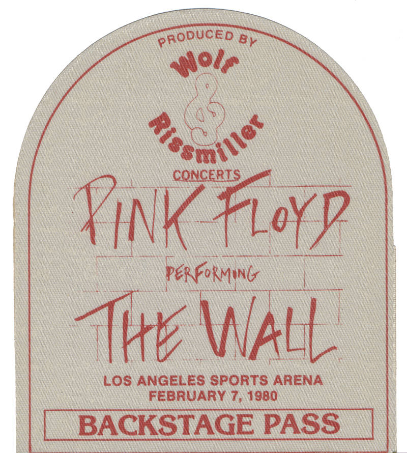 Pink Floyd - Pink Floyd performing The Wall Los Angeles Sports Arena February 7, 1980 - Backstage Pass