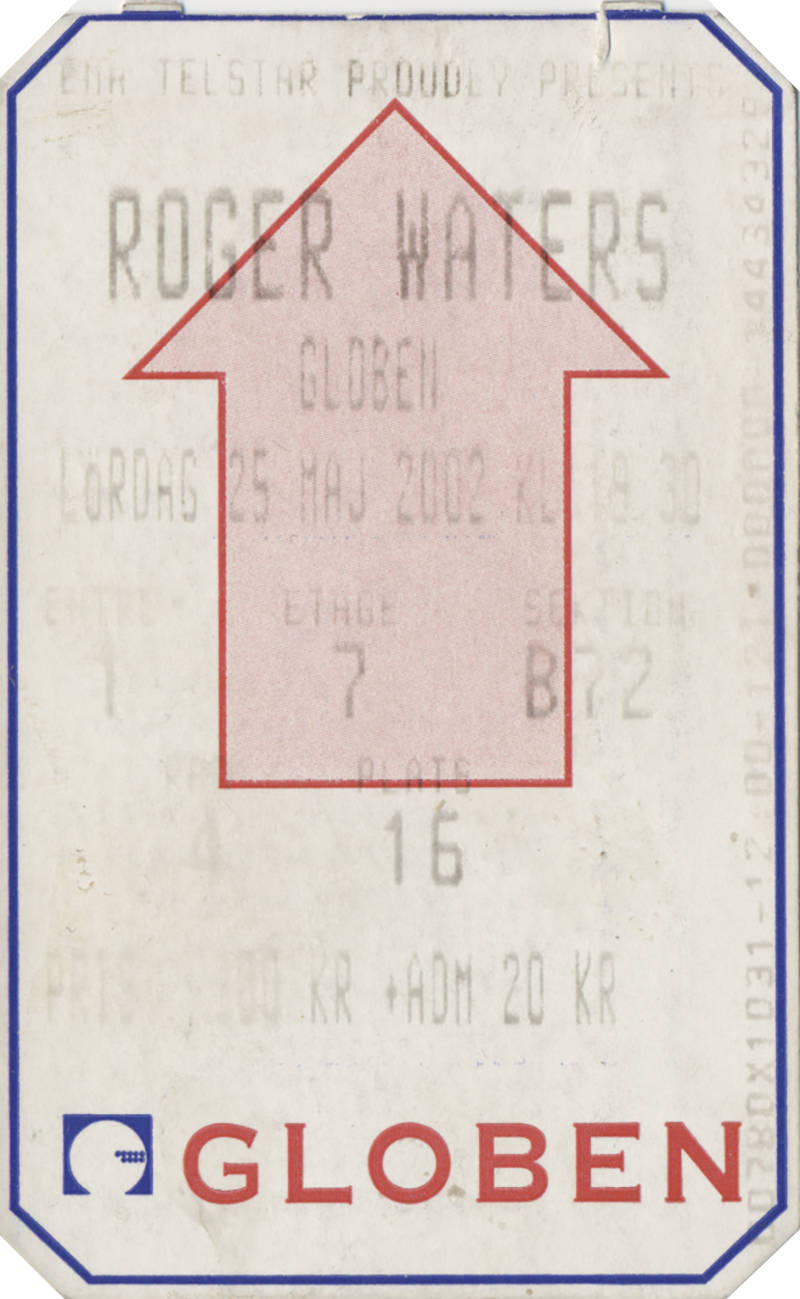 Roger Waters - Globen Stockholm, May 25, 2002 [ticket]