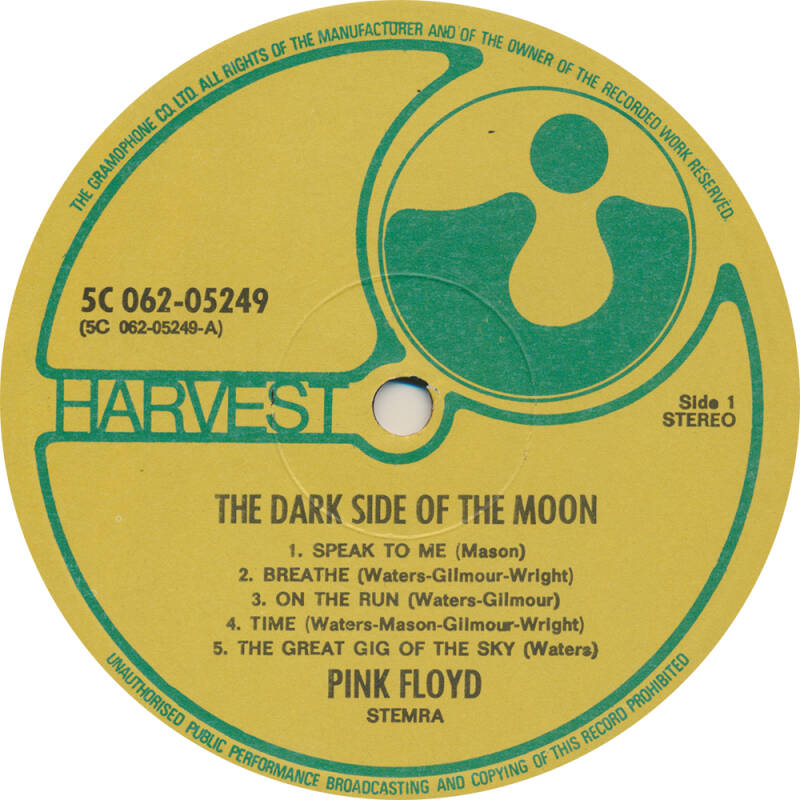 Pink Floyd - Dark Side Of The Moon [Holland, yellow/green label] - LP