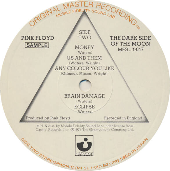 Pink Floyd - Dark Side Of The Moon [USA, MFSL, promo sample] - LP