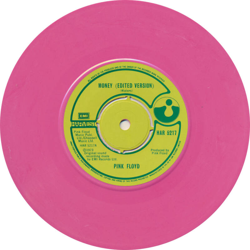 Pink Floyd - Money [UK, promo, pink vinyl] - 7""