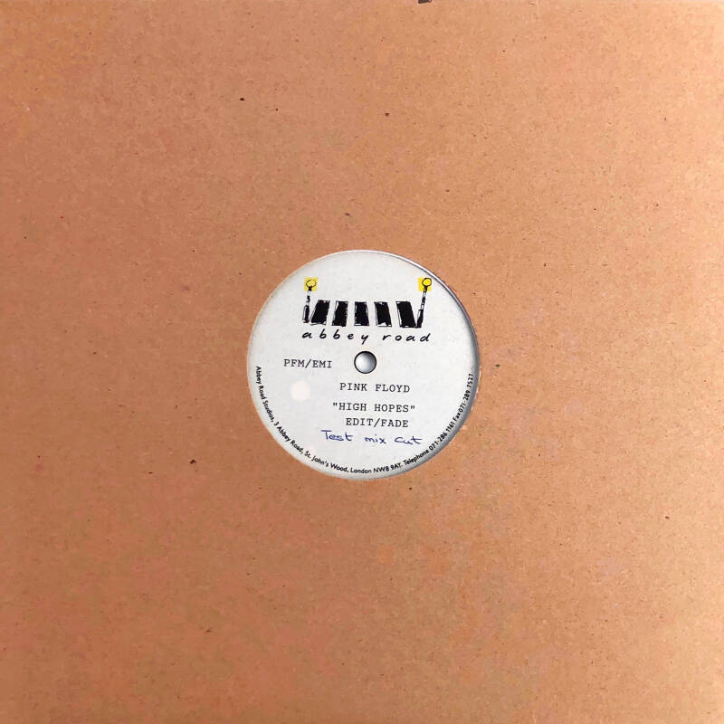 """Pink Floyd - High Hopes [abbey road acetate] - 10"""""""