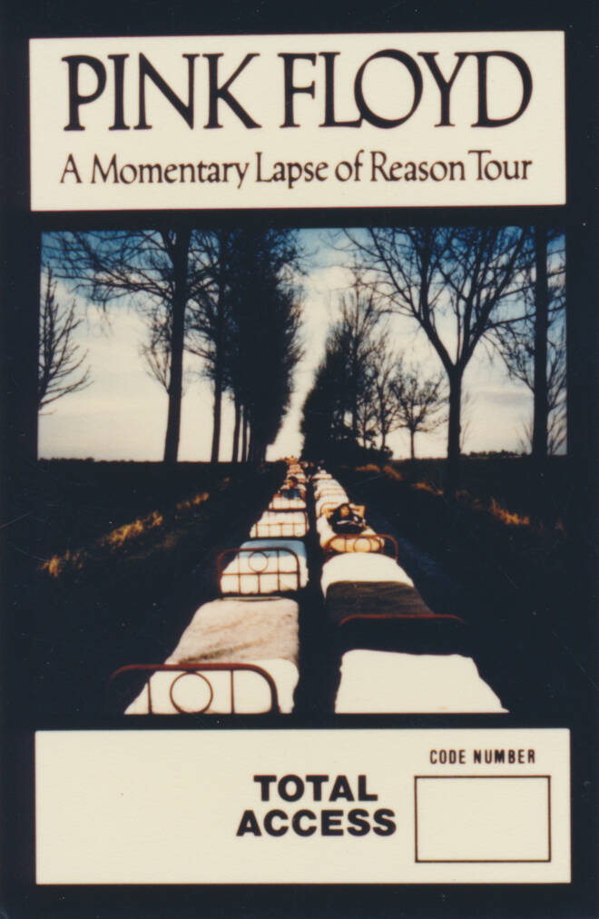 Pink Floyd - A Momentary Lapse Of Reason Tour - Total Access - Backstage Pass