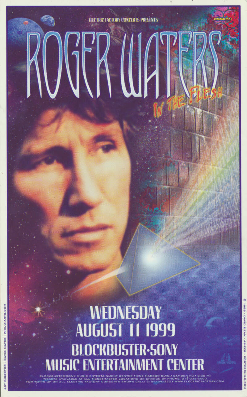 Roger Waters - Blockbuster-Sony Music Entertainment Centre, Camden, August 11, 1999 - Fridge Magnet