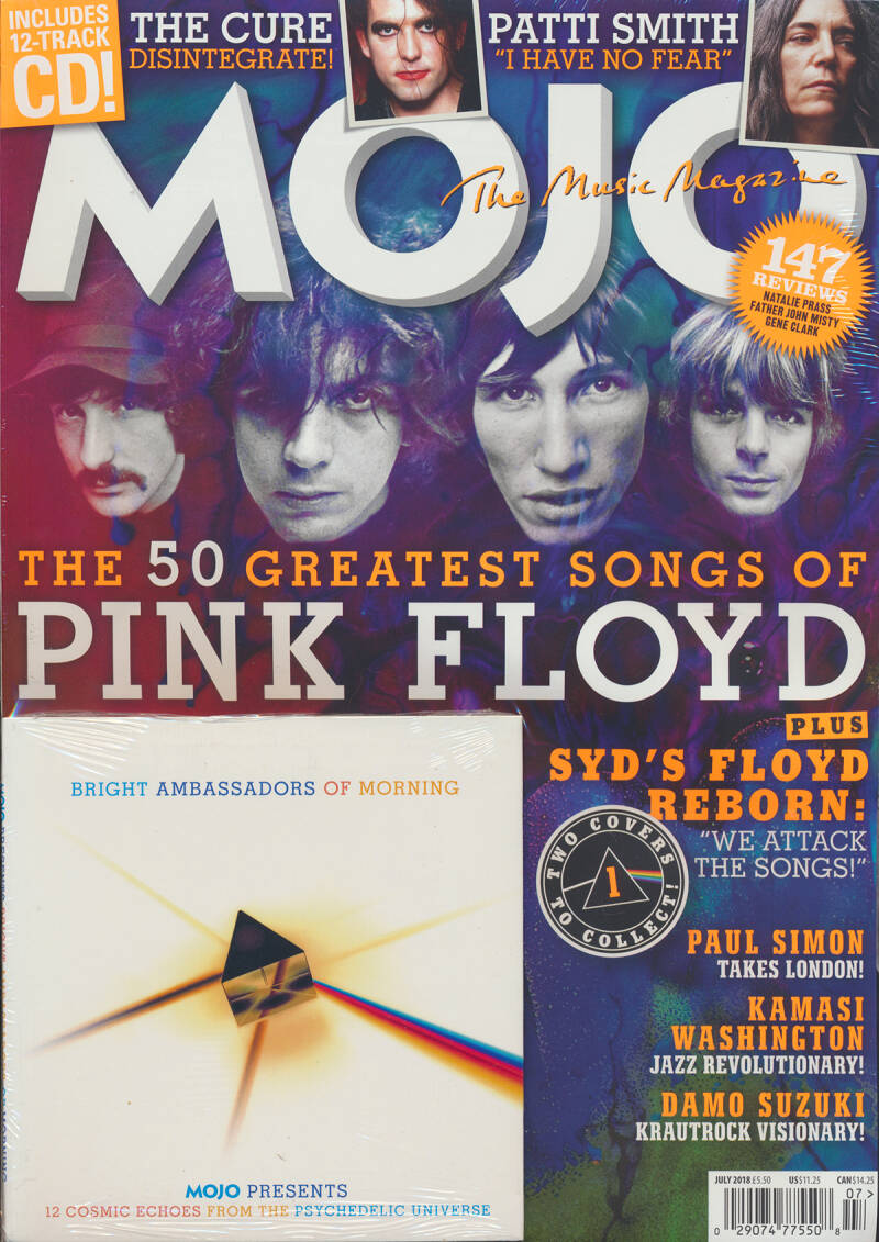 Pink Floyd - Mojo 296 - July 2018 - 60s Cover [UK] - Magazine