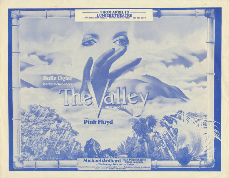 Pink Floyd - The Valley - Lumiere Theatre San Francisco 1972 [USA] - Poster