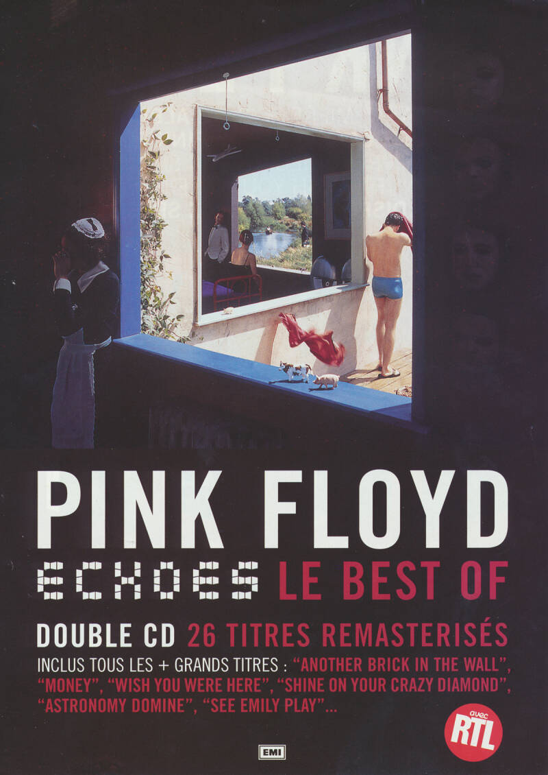 Pink Floyd - Echoes - Le Best Of [France] - Handbill