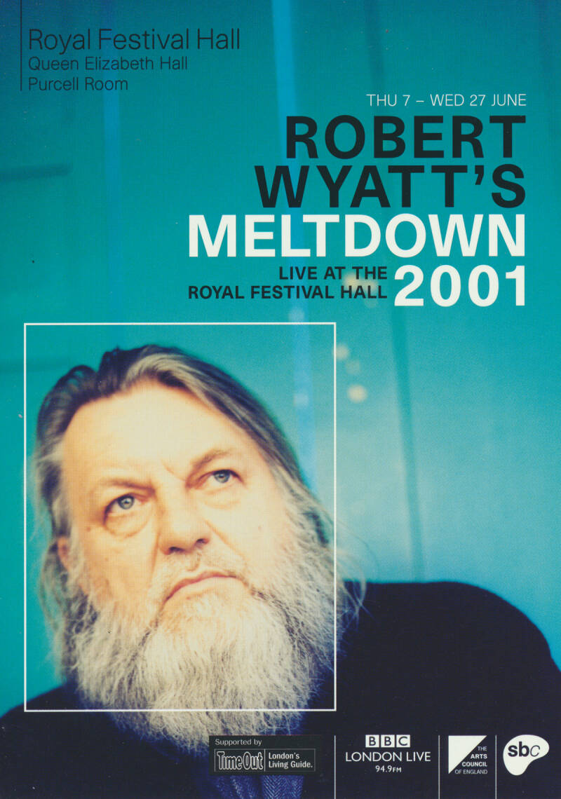 David Gilmour - Robert Wyatt's Meltdown 2001 [UK] - Handbill
