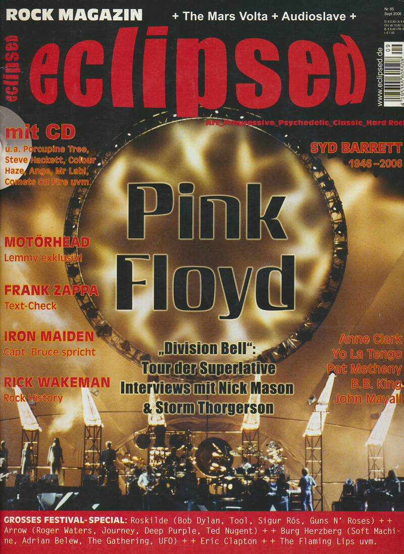 Pink Floyd - Eclipsed 85, September 2006 [Germany] - Magazine