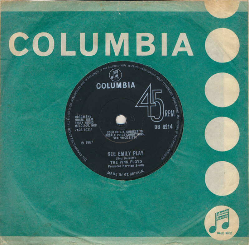 Pink Floyd - See Emily Play [UK, transitional, solid centre] - 7""