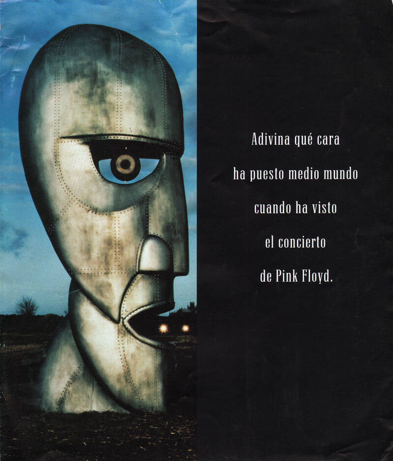 Pink Floyd - Estadio Olímpico, Barcelona, July 27, 1994 [Spain] - Brochure
