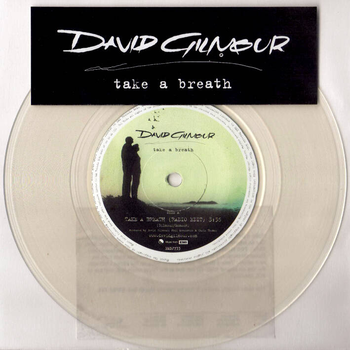 David Gilmour - Take A Breath [UK, clear vinyl promo] - 7""