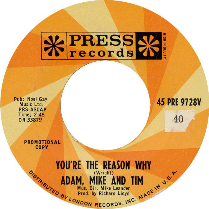 """Richard Wright / Adam, Mike and Tim - Little Baby [USA, promo] - 7"""""""