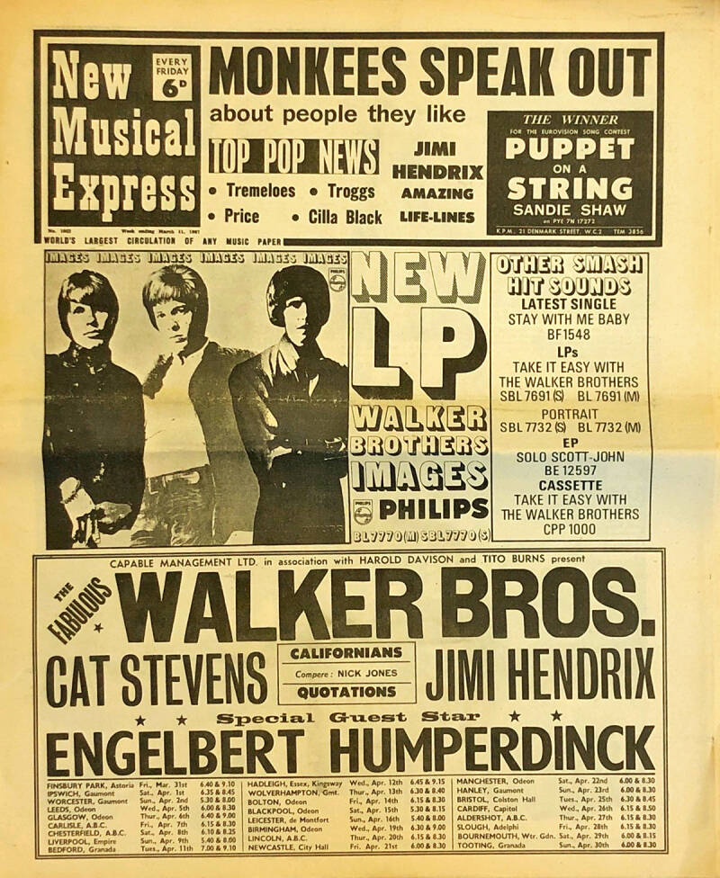 Pink Floyd et al. - New Musical Express 1052, March 11, 1967 [UK] - Magazine