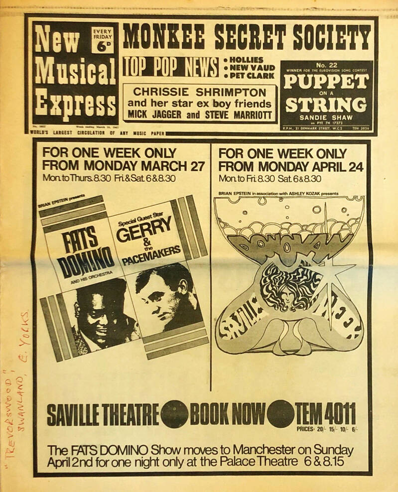 Pink Floyd et al. - New Musical Express 1053 - March 18, 1967 [UK] - Magazine
