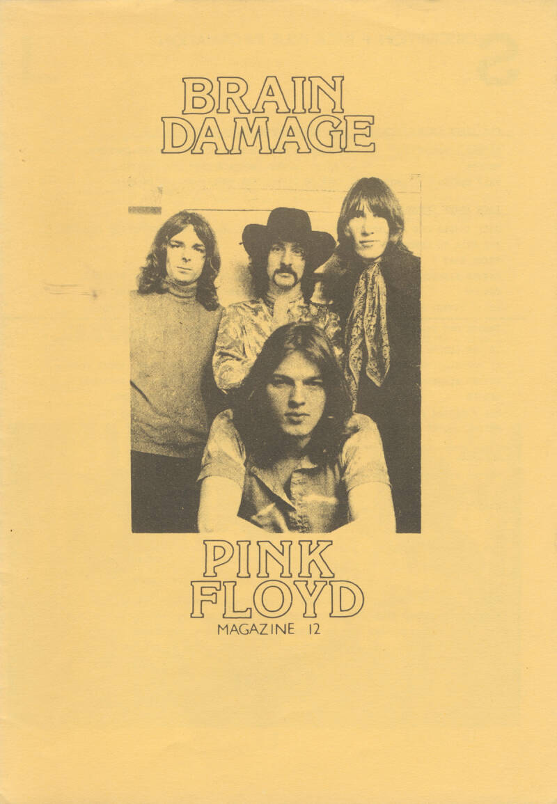 Pink Floyd - Brain Damage 12,  July 1987 [UK] - Magazine