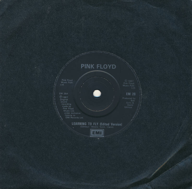 """Pink Floyd - Learning To Fly [UK, dark silver print] - 7"""""""