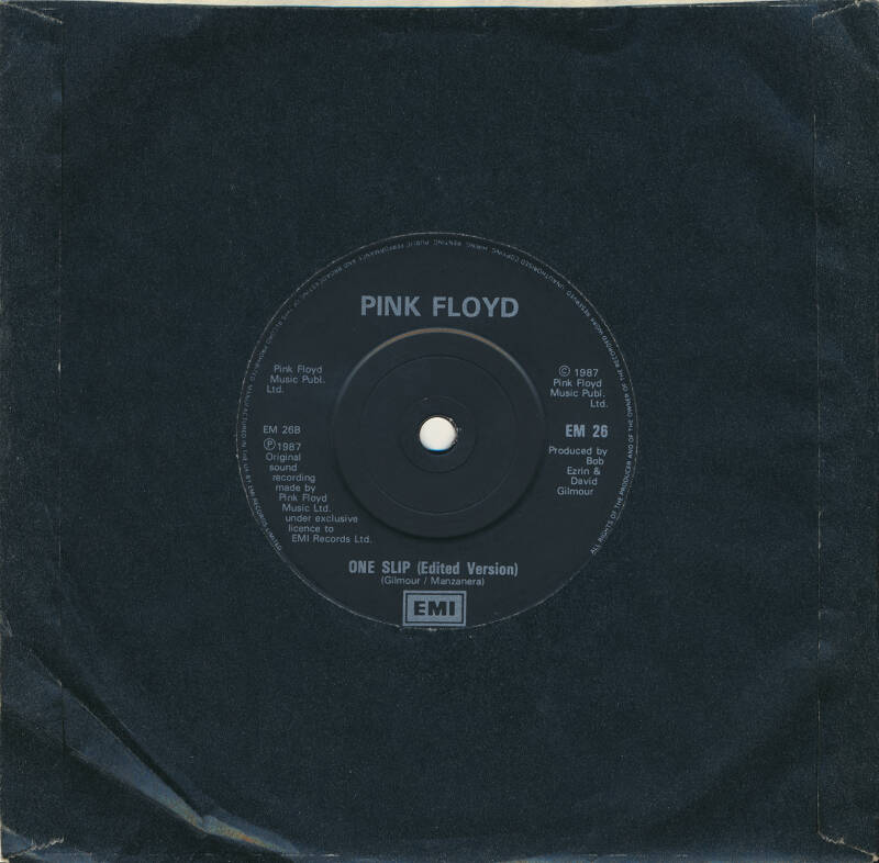 """Pink Floyd - Learning To Fly [UK, bright silver print] - 7"""""""