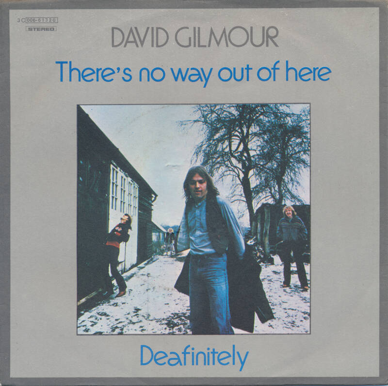 """David Gilmour - There's No Way Out Of Here [Italy] - 7"""""""