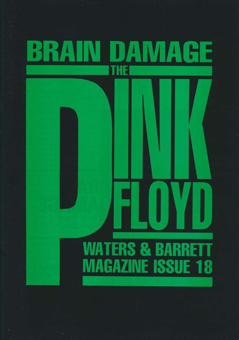 Pink Floyd - Brain Damage 18, February 1989 [UK] - Magazine