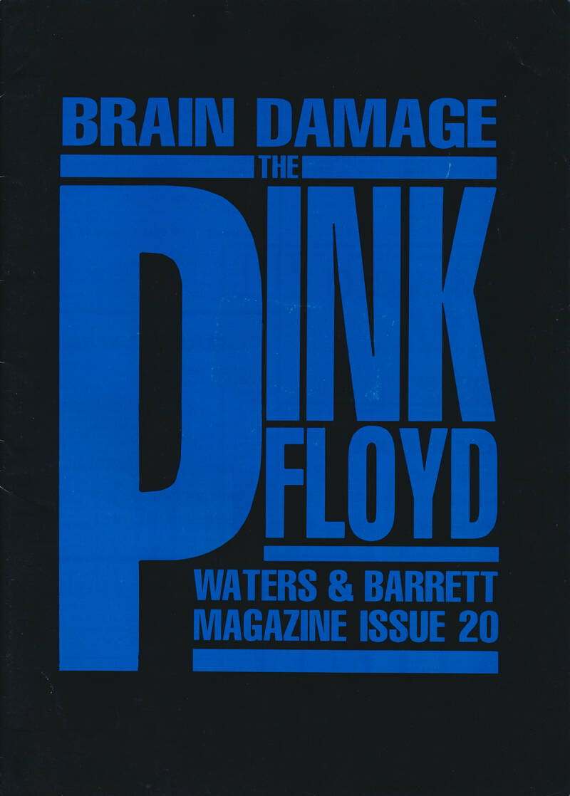 Pink Floyd - Brain Damage 20, August 1989 [UK] - Magazine