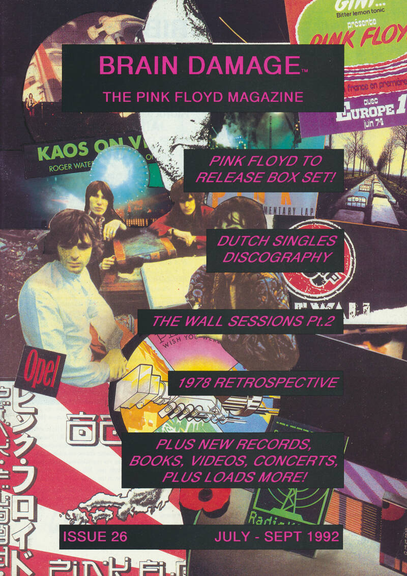 Pink Floyd - Brain Damage 26, July 1992 [UK] - Magazine