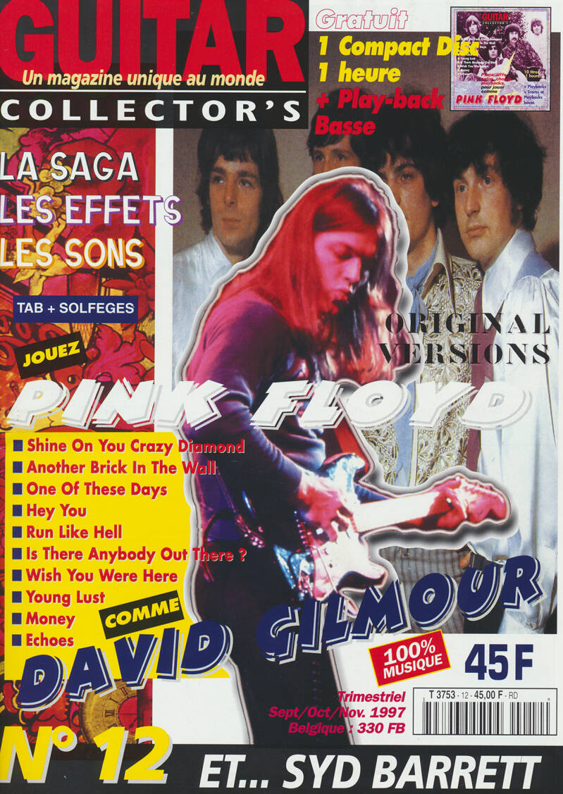 Pink Floyd - Guitar Collector's 12, September 1997 [France] - Magazine + CD