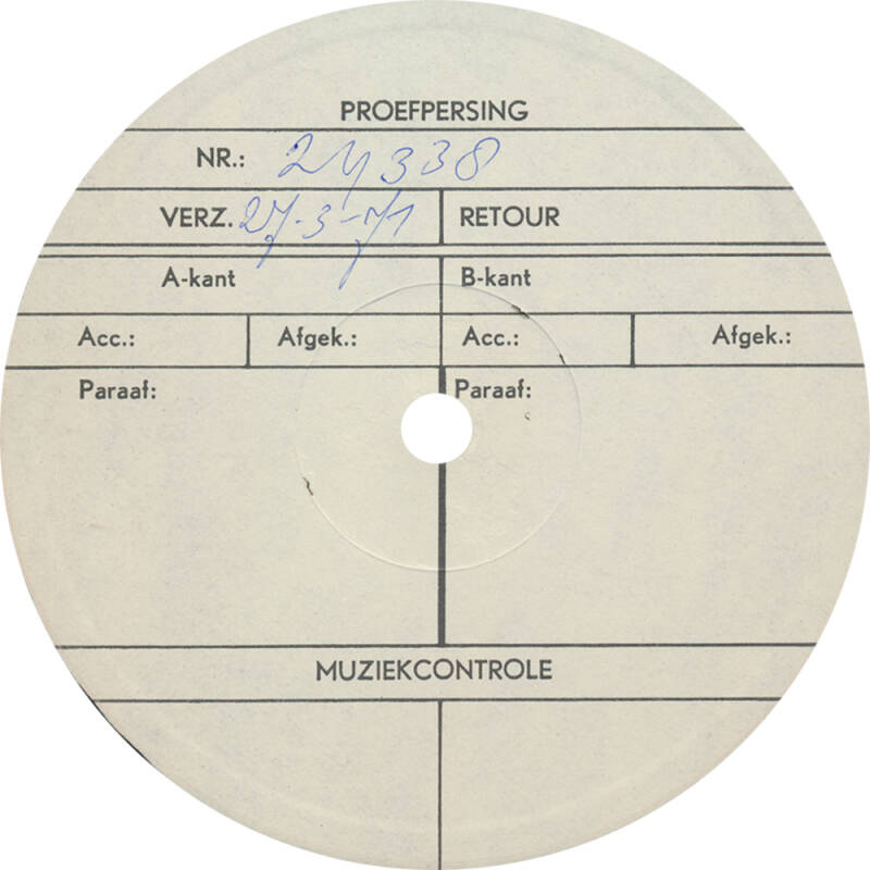 Pink Floyd et al. - Harvest Sweeties [Holland, test pressing] - LP