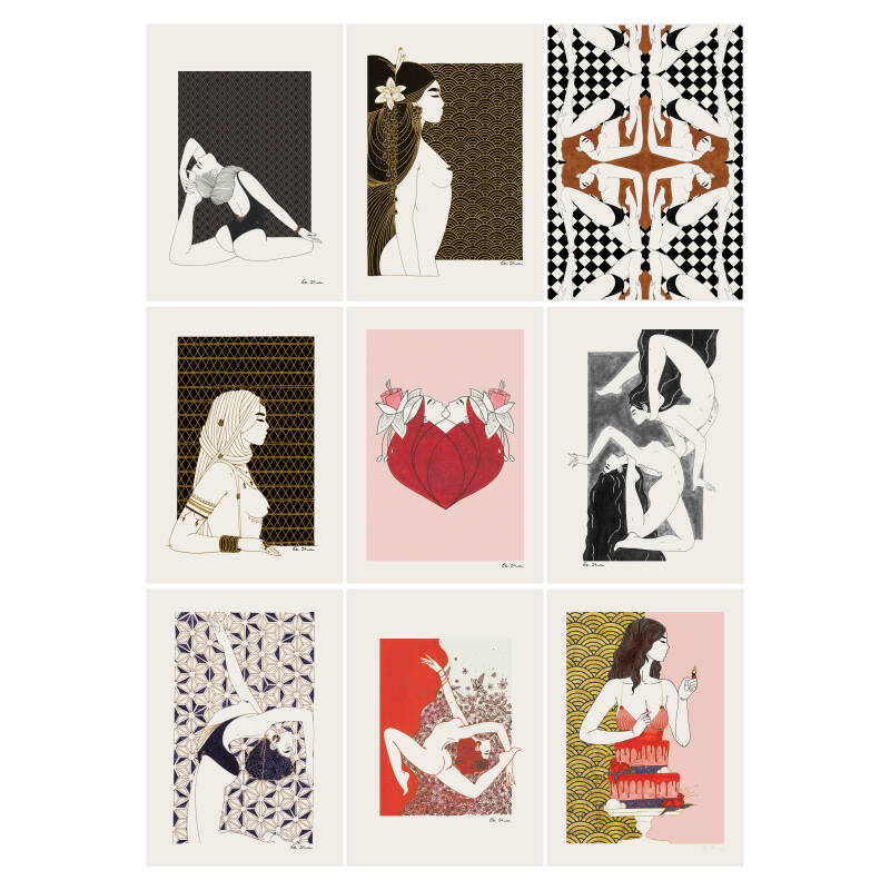 Pack of 9 cards