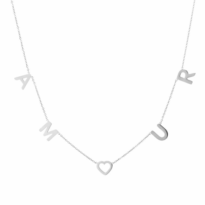 Amour ketting goud of zilver