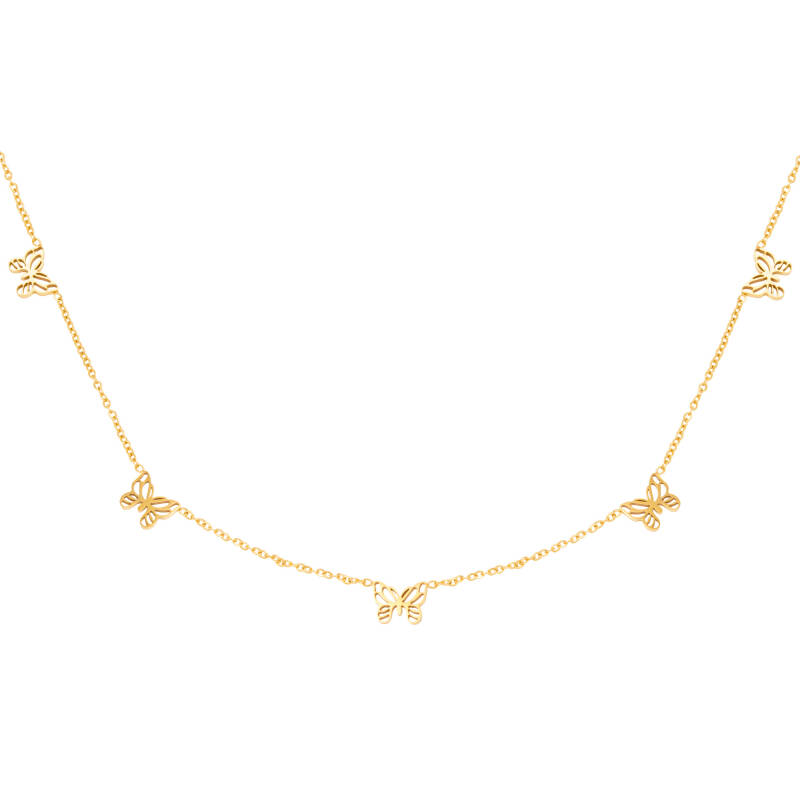 Butterfly ketting goud