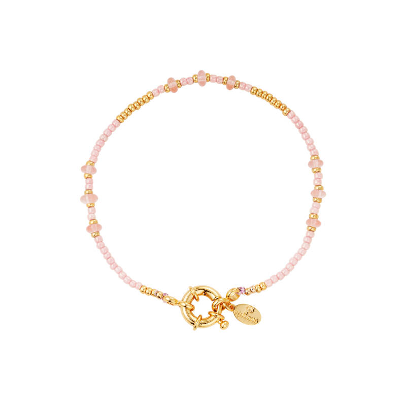 Colored beads pink