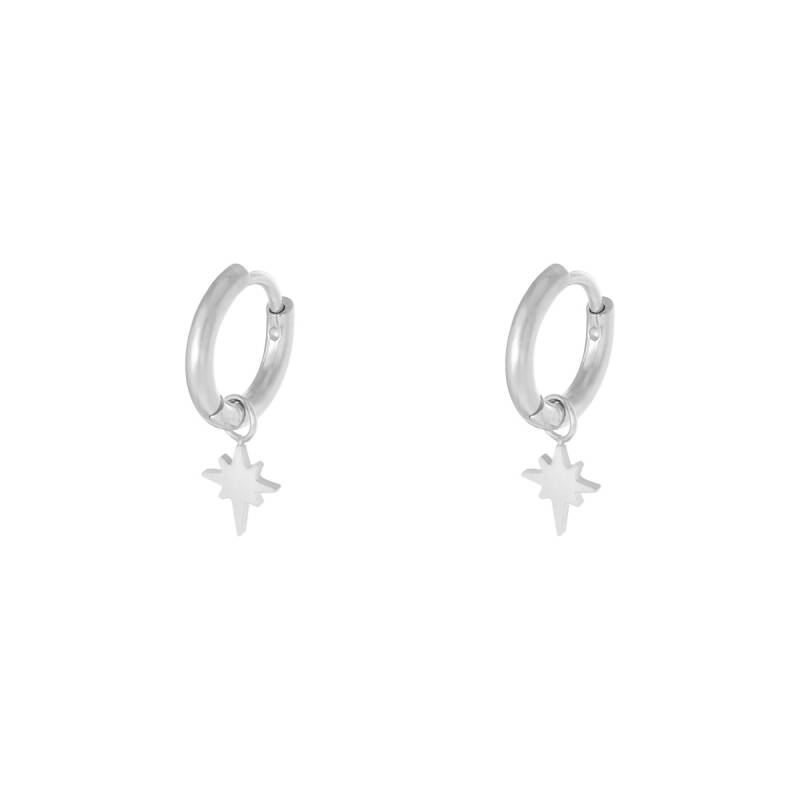 Spark earrings zilver of goud