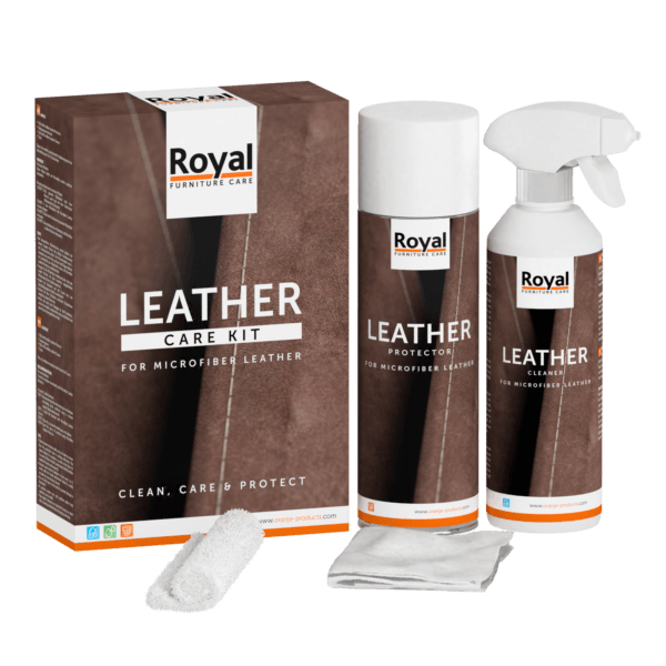Leather Care Kit Microleder - Oranje Furniture Care