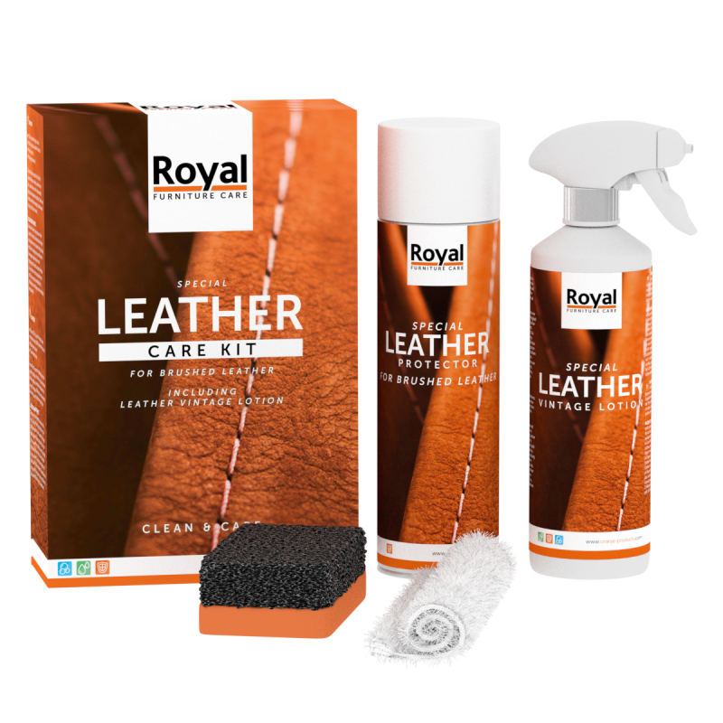 Leather Care Kit Brushed Leather - Oranje Furniture Care