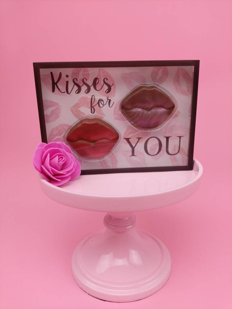 """Postkaart Chocolade """"Kisses For You"""""""