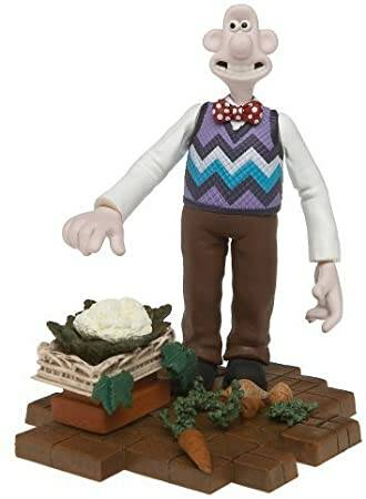 """McFarlane Wallace and Gromit """"Wallace 2"""" Were Rabbit Action Figure"""